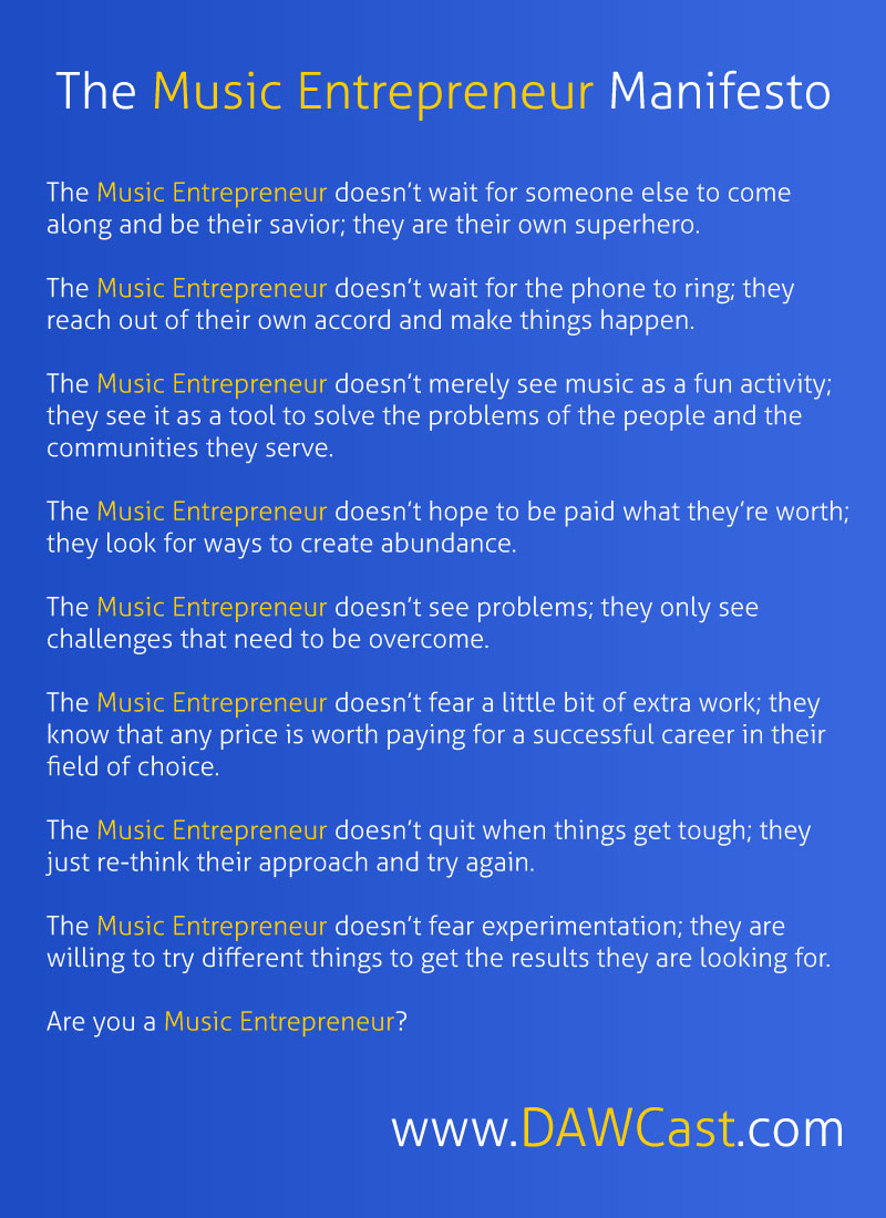 The Music Entrepreneur Manifesto