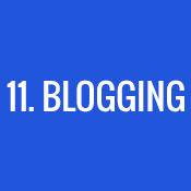 11. Blogging
