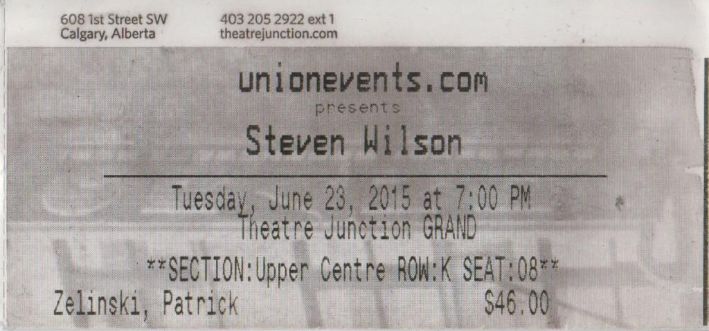 Steven Wilson Ticket