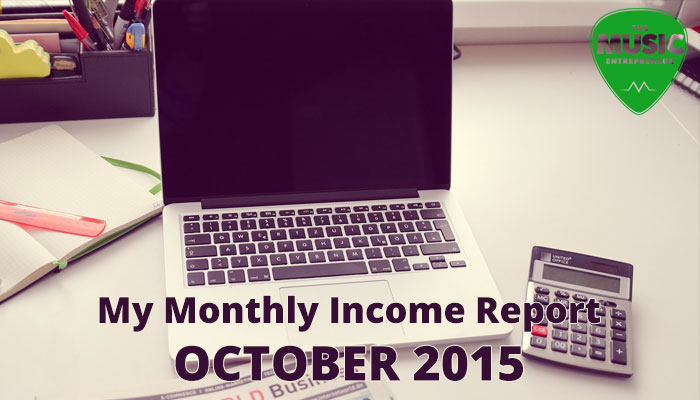 My October 2015 Monthly Income Report