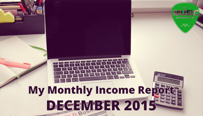 My December 2015 Monthly Income Report