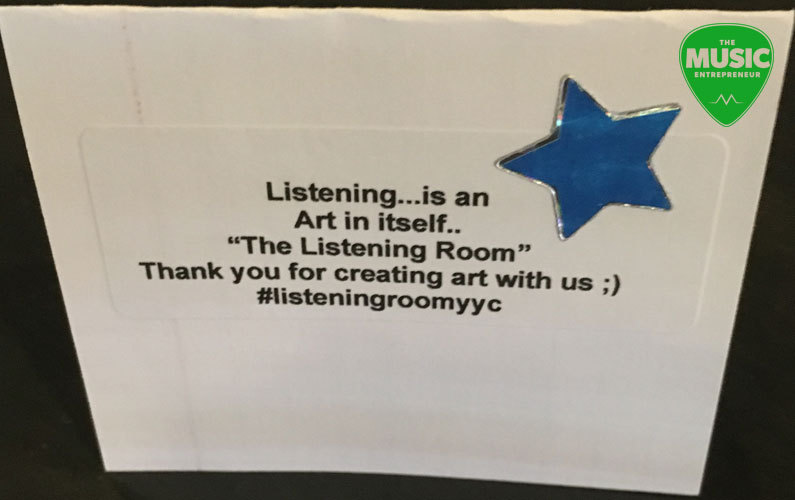 How & Why I Started the Listening Room Series