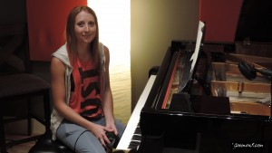 Playing piano on a record project