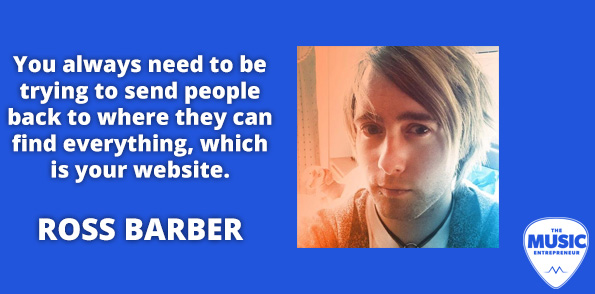 Ross Barber on sending people to your website