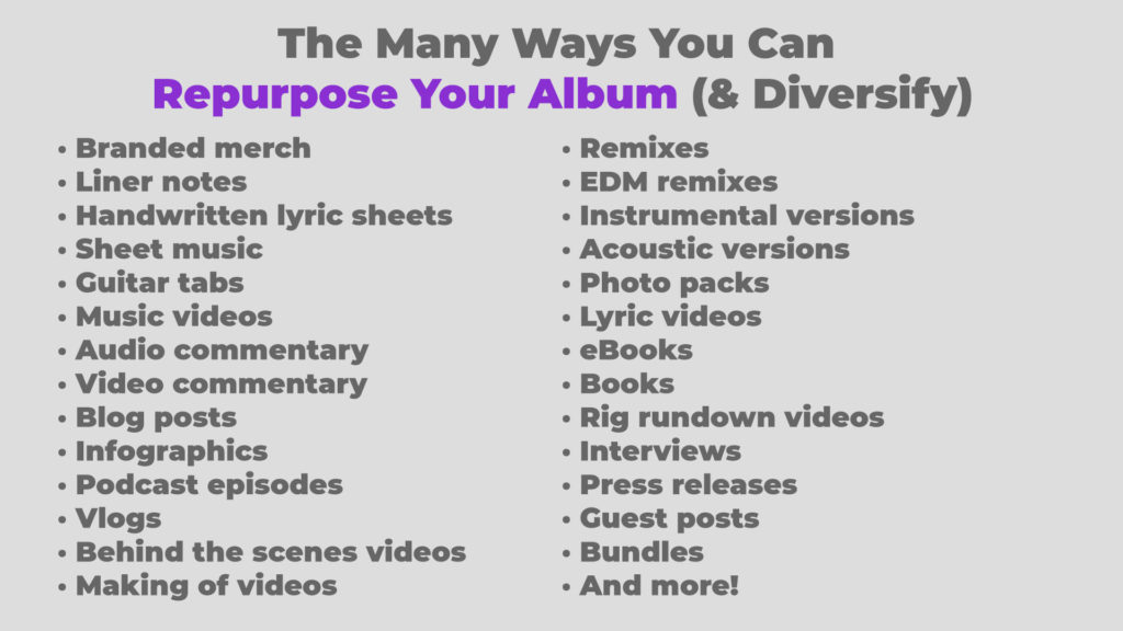 The many ways you can repurpose an album