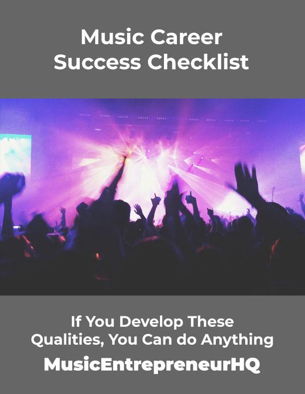 Music Career Success Checklist